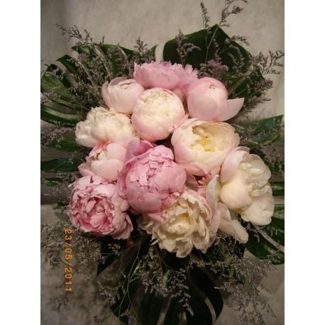 Bouquet de peonias 2 tonos.
